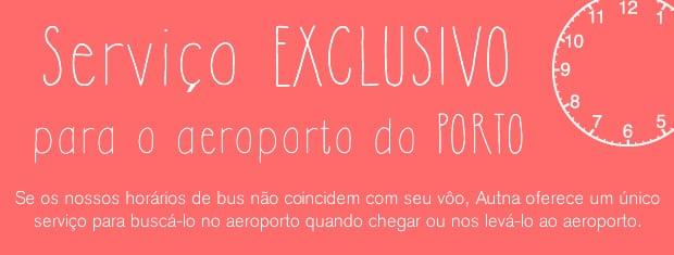 Serviço exclusivo o aeroporto do Porto
