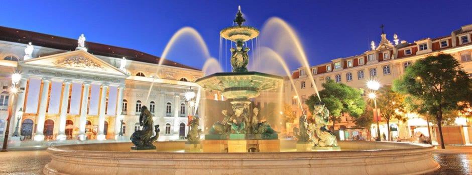 Plaza de Rossio en Lisboa
